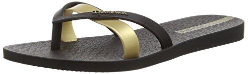 Ipanema Damen Silk Premium Plateausandalen, Schwarz (Schwarz/Gold), 40 EU