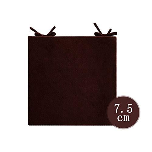 YEARLY Natürliches Latex Orthopädisches sitzkissen, Tatami Stuhlkissen Haushalt Office Verdicken sie Super weich Indoor Outdoor Stuhlauflage-Kaffee Farbe B 45x45x7.5cm(18x18x3inch)