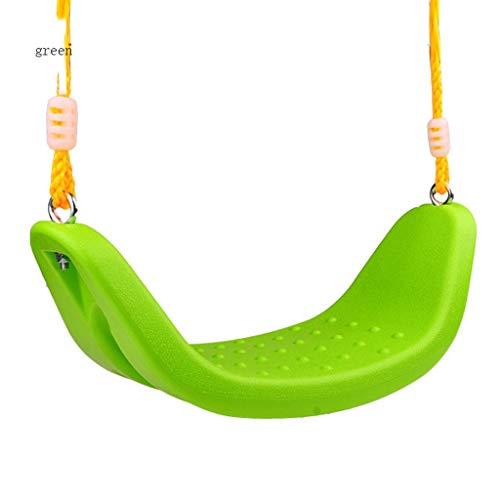 Columpio Oscilación Antideslizante en Forma de U de la Placa Curvada Grande plástica Gruesa de los niños del oscilación, Durable Asiento de Columpio Green
