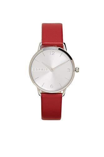 Esprit Edelstahl-Uhr mit Leder-Armband