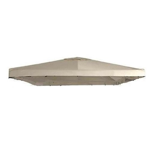 Garden Winds Universal 10 x 10 Single Tiered Gazebo Replacement Canopy Top Cover - Riplock 350 - Beige