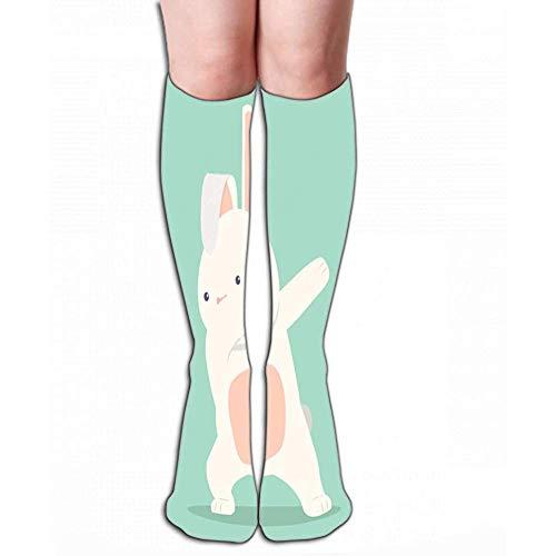 Zome Lag Vrouwen 'mannen mannen' kniehoge sokken atletische sokken 50 cm haas grappige depper beweging plat minimale eps-bestand kopieruimte droom