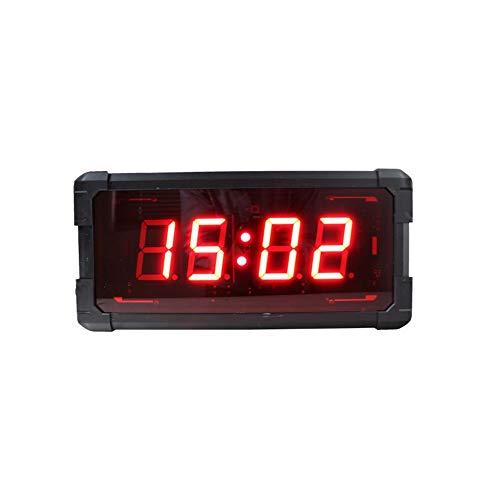 Interval Timer Stopwatch Wandklok 3 Inch Grote Home Fitness Interval Timer 4 Digits LED Wall Stopwatch met Countdown Klok en 12/24 Uur Real Time Klok door Afstandsbediening Voor Thuis Gym Fitness