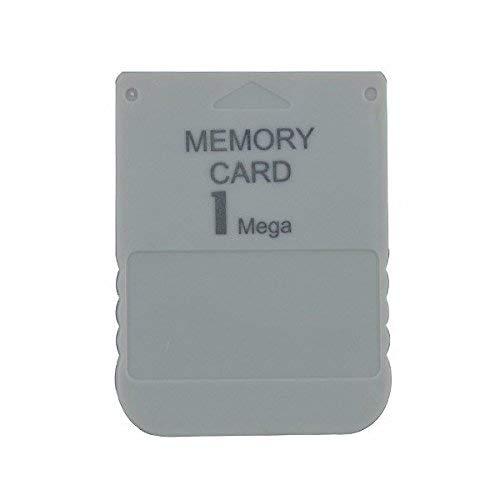 WiCareYo 1MB Speicherkarte für Playstation One PS1 PS2 PSX Konsole 1 Mega Speicherkarte Weiß