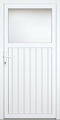 individuelle Nebeneingangstür (nach Maß, genutet, NEU, PVC, weiß, alles inklusive)