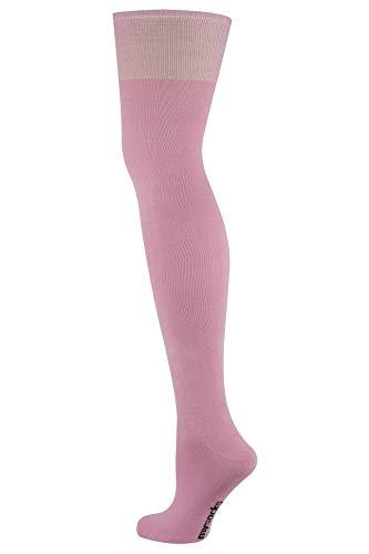 Mysocks Über das Knie Hoch lang Socken Rosa