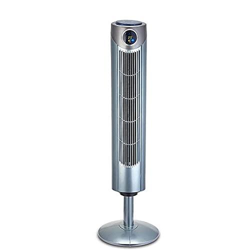 QIQIZHANG Raffrescatore, Condizionatore d'Aria in Piedi, Ventilatore Grigio Argento Tlcommand Tower/Up Blackless/Grandangolare/Ventola Circolazione 'Turbine Air Ventola di Raffreddamento Air Fan