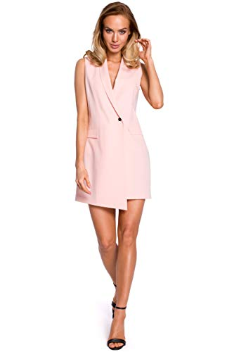 Made of Emotion Blazer-Kleid, ärmellos, Puder Gr. 40, rose