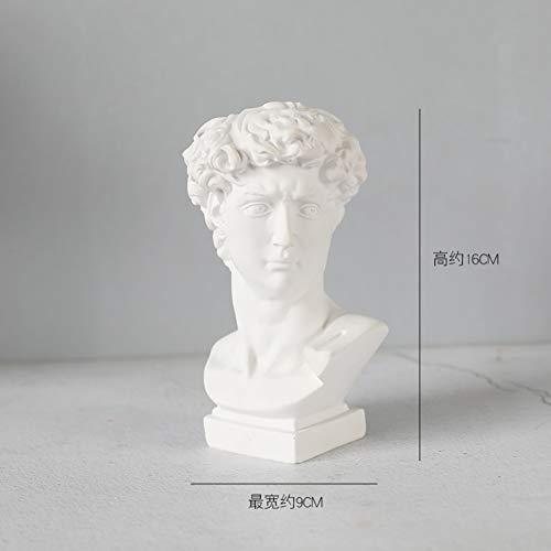 qwqqaq Griechischen Roman Stil Statue Head Planter,klassisches Indoor Outdoor Pflanzenstatue Urne Für Pflanzen Langlebig Harz Blumentopf Handwerk Ornamente-c 9x17cm(4x7inch)