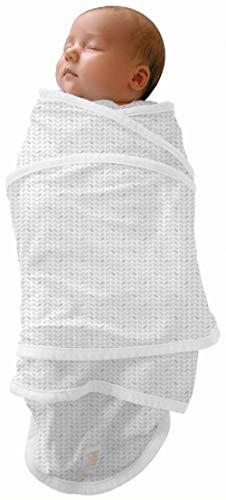 RED CASTLE Couverture bébé/naissance/d'Emmaillotage, 100% coton, Apaise bébé, Possibilité Gigoteuse d'emmaillotage, Couverture Miracle, 0-3 mois, Motif Feuilles