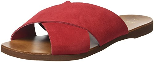 New Look Wide Fit-Francine, Zuecos Mujer, Rojo (Bright Red 60), 41