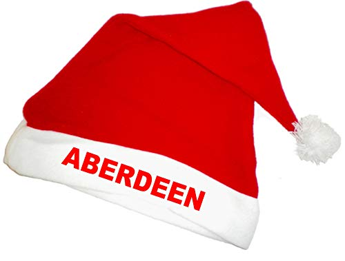 Aberdeen FC Football Club Santa Father Christmas Xmas Hat - Fun! Red/White