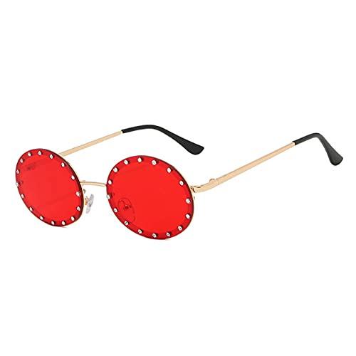 LUOXUEFEI Gafas De Sol Gafas De Sol Redondas Hombres Gafas Pequeñas Mujeres Gafas De Conducción Gafas