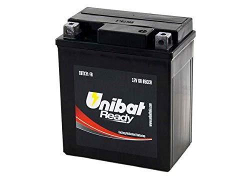 YTX7L-BS Batteria Moto Completa di Acido Pronta all'Uso UNIBAT READY CBTX7L-FA