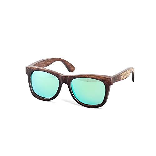 SWNN Sunglasses Nuevas Gafas De Montura De La Personalidad De La Moda De Bambú Que Conducen Las Gafas De Sol Polarizadas Protección UV400 (Color : Green)