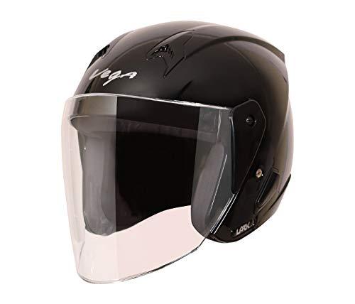 Vega Lark Open Face Helmet (Black, M)