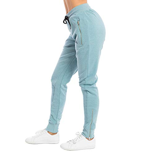 SMILODOX Damen Jogginghose 'Ripplez' | Trainingshose für Sport Fitness Gym Training | Sportleggings - Jogger Pants - Sweatpants Hosen - Freizeithose Lang, Größe:S, Farbe:Mint