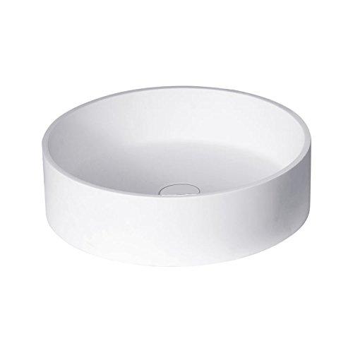 STONEART Waschbecken LC112 (Mineralguss) weiß/45x45cm/matt