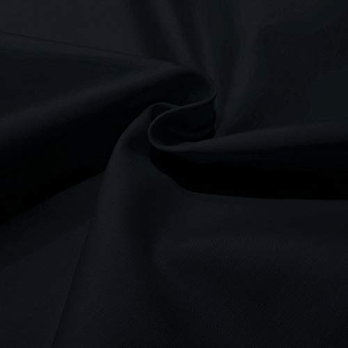 Popelin algodón poliéster colores (Negro)