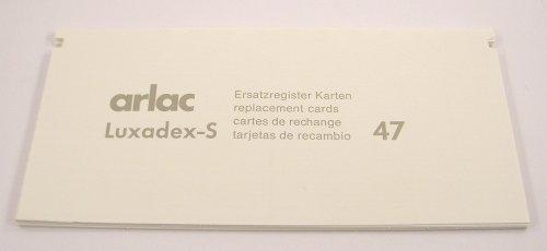 Arlac - Ersatzregister Karten (A-Z) Luxadex-S No.47