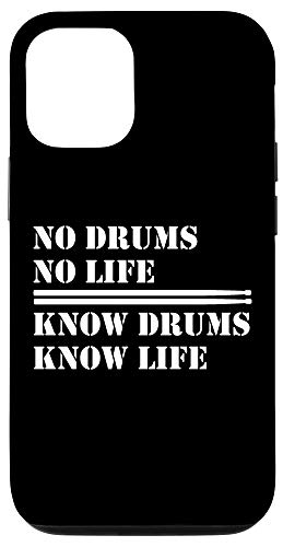 iPhone 12/12 Pro No Drums No Life I Funny Drummer Quotes Case