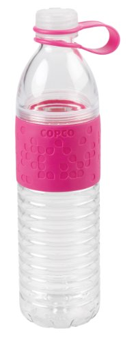 Wilton Copco Hydra Reusable Tritan Water Bottle with Spill Resistant Lid and Non-Slip Sleeve, 20-Ounce, Pink
