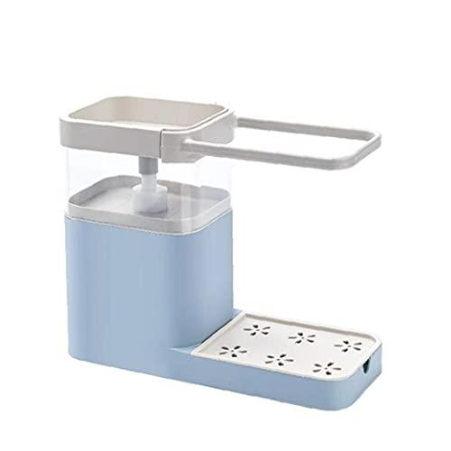 finebrand Fregadero De La Cocina para Guardar Caddie Estante Dispensador De Jabón Jabonera Dispensador De La Bomba Multifuncional Organizador Azul