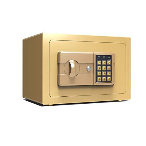 HCYY Caja Fuerte de Seguridad, Caja Fuerte electrónica Digital, Caja de Dinero con Cerradura de 20 cm, Caja de Seguridad de Anclaje a la Pared para Joyas, Dinero en Efectivo, Objetos de Valor (co
