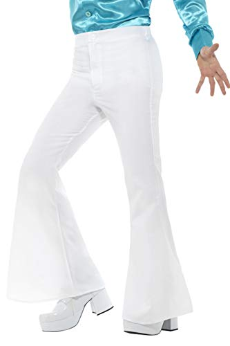 White Flared Saturday Night Fever Disco Trousers