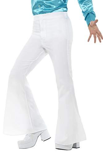 Smiffy'S 48194Xl Pantalones De Campana Para Hombre, Blanco, Xl - Tamaño 46