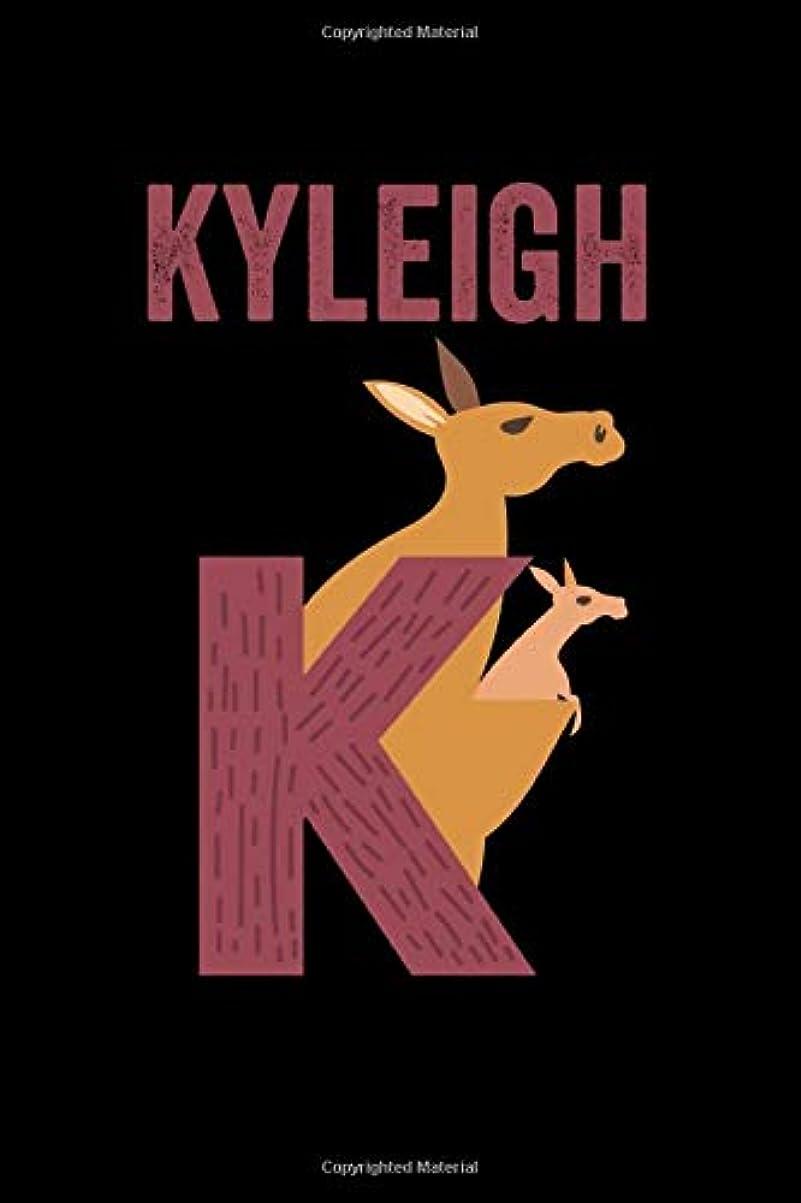 依存するバウンス選択Kyleigh: Journal (Diary, Notebook) Personalized Custom Name Alphabet Kangaroo Birthday Gift for Girls