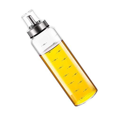 Ölflasche Olivenöl Behälter Glas Olivenöl Flasche Behälter Essig/Öl Spender aus Edelstahl und Glas für Kochenfür BBQ Kochen Grillen Pasta BPA-Frei Auslaufsicher und Spülmaschinenfest Tropffrei (500ml)