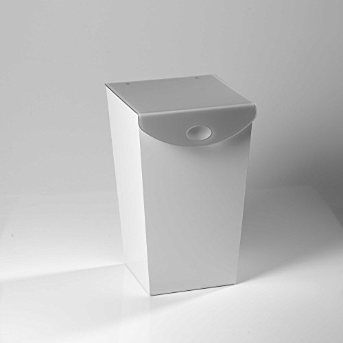Vesta wasmand van plexiglas Wave wit/taupe