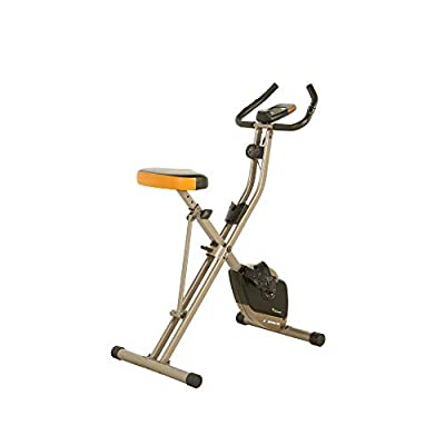 Exerpeutic Folding Bluetooth Smart Cloud Fitness Magnetic Upright Exercise Bike with Goal Setting and Free App