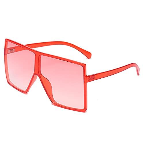 NBJSL Gafas De Sol Cuadradas De Gran Tamaño Con Protección Uv400 Para Mujeres Y Hombres, Gafas De Sol De Moda (Caja De Embalaje Exquisita)