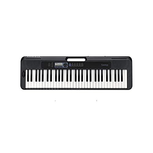 KANGLE-DERI Piano de Teclado, Teclado portátil, 48 polifonía, 400 Tonos incorporados, 77 ritmos incorporados, Adulto, Profesional, niño, Principiante