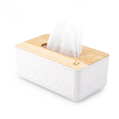 Tissue Box Cover Rectangular Ficial Tissue Holder Dispenser for Dining Room, Kitchen, Bedroom Dressers and Home Decor