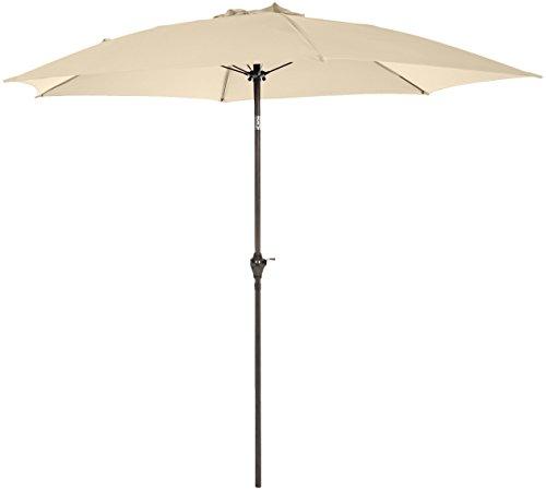 Amazon Basics - Ombrellone da giardino JC008, 2,74 m, beige
