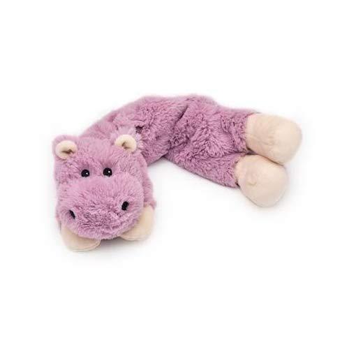 Hippo Animal Neck Wrap Cozy Plush Heatable Lavender Scented