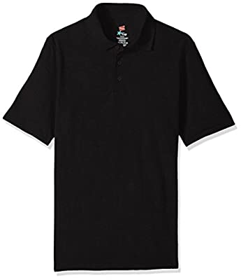 Hanes Men's Short Sleeve X-Temp W/ FreshIQ Polo, Black, XX-Large from Hanes Branded Printwear