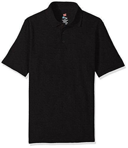 Hanes Men's Short Sleeve X-Temp W/ FreshIQ Polo, Black, 3X-Large