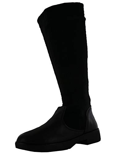 FITFLOP Womens Nisse Mixte Knee-High Boots, All Black, Size 5