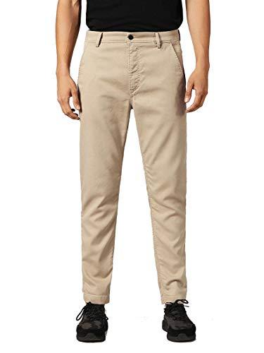 DIESEL Slim-Chino-M-NE 0685E Pantalon Homme Chino Sweatjeans (32W, Beige)