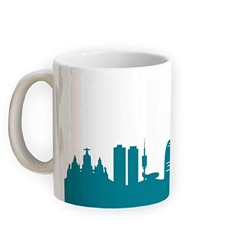 Tasse Barcelona Skyline - Bürotasse Kaffeebecher Städtetasse 5 Farben - Personalisierte Geschenkidee für Berliner & Fans, Umzug Richtfest Architekt