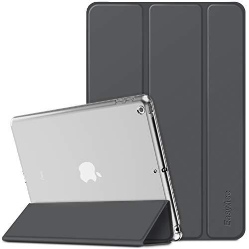 EasyAcc Hülle für iPad 10.2 2019 iPad 7 Generation, Ultra Dünn Transluzent Matt Rückseite Abdeckung mit Auto aufwachen/Schlaf Funktion für iPad 10.2 Zoll 2019, Grau