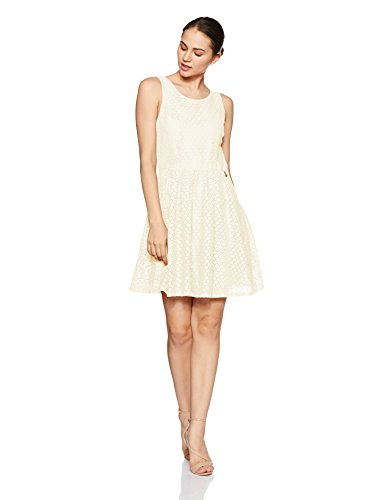 ONLY Damen onlLINE Fairy LACE Dress WVN NOOS Kleid, Elfenbein (Whisper White), 42