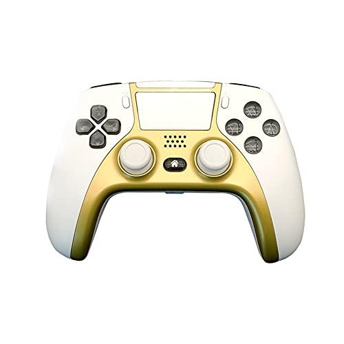 Lpzw Controlador de Juego inalámbrico Joystick Gamepad Double Vibration Double Vibration Control Remoto inalámbrico Joystick (Color : White and Gold)