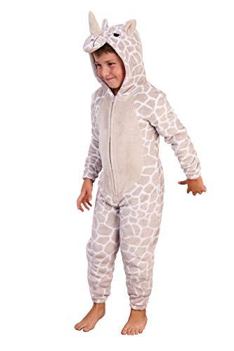 Jongens Meisjes 3D Rhino Onesie Alle in Een Kids Dress Up Kostuum Fleece Xmas Jumpsuit Nieuwigheid Character Gift