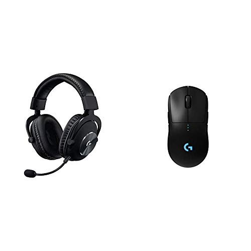 Logitech G Pro Gaming Headset, Black & G Pro Wireless Gaming Mouse with Esports Grade Performance