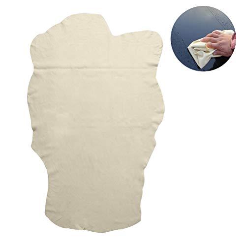 Hihey Reinigingsdoek, natuurlijk chamoisleer, autoreinigingsdoek, wasdoek, poetsdoek, suède, absorberend, sneldrogend, voor het wassen en drogen, super absorberend 60 * 90cm